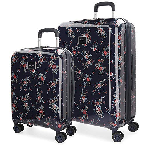 Pepe Jeans 7348961 Emerald Juego de maletas, 70 cm, 115 litros, Azul
