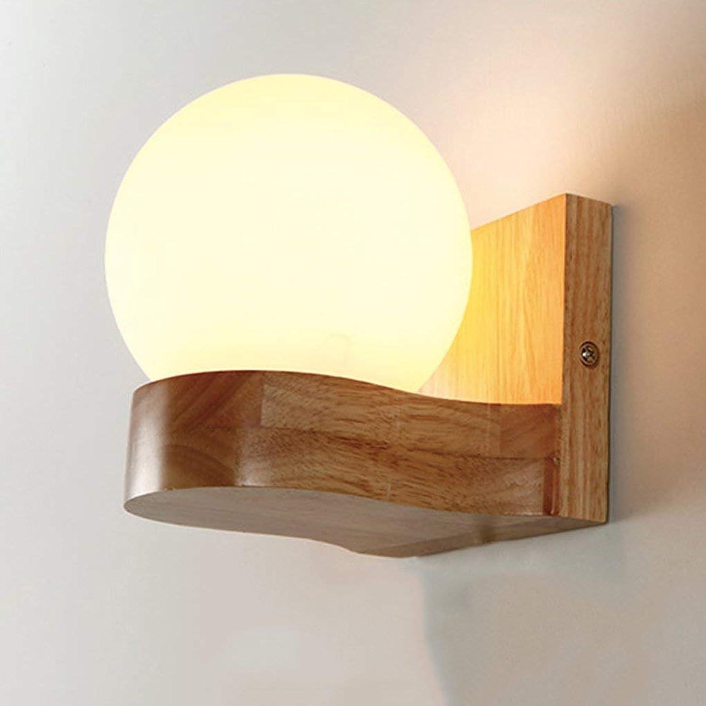 ordene ahora los precios más bajos ZHANG NAN ● Lámpara de Parojo de de de Madera Maciza para Interiores - Dormitorio Moderno, lámpara de Noche, lámpara de Vidrio, Luces de Lavado de Parojo, E27, 110V-240V (Tamaño  4.72  6.3in) ●  suministro directo de los fabricantes