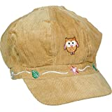 """Features a light brown corduroy fabric with a picture of an owl and a cute leaf and flower pattern around the edge. Hat will go with almost every outfit and is very comfortable to wear Perfect for your little girl's outfit Measure 12"""" x 5 1/2"""" x 1/2""""..."""