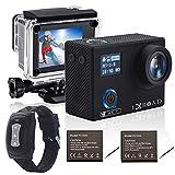 IXROAD Caméra Sport 4K 20MP WiFi Action Cam Appareil Photo Étanche avec Gyro Stabilisateur Angle Réglable Time-Lapse...