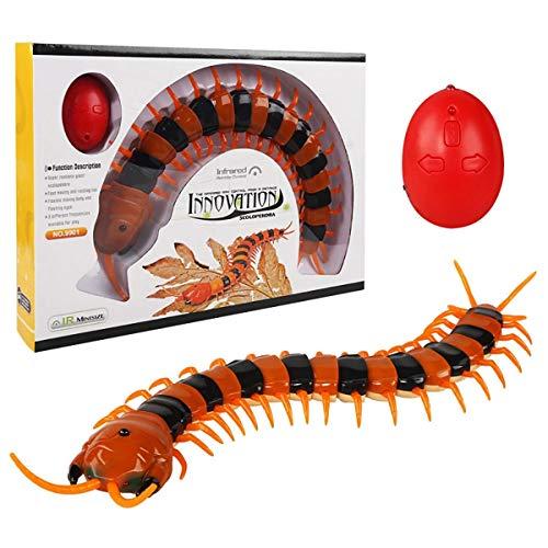 XIAOKEKE RC Centipede, 1PC ABS Control Remoto por Infrarrojos Falso Ciempiés Scolopendra RC Juguetes para Regalos por Encima De 6 Años,A