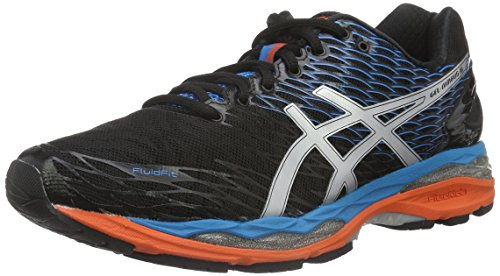 Asics Gel-Nimbus 18, Zapatillas de Running para Hombre, Multicolor (Onyx/Silver/Blue Jewel), 40.5 EU