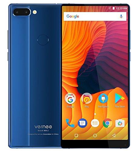 Vernee Mix 2 - 6,0 Zoll FHD (18: 9 alle Display) Octa Core 2,5 GHz 4 GB + 64 GB, dreifache Kamera (8MP + 5MP + 13MP), GPS, 4200mAh Batterie - Blau