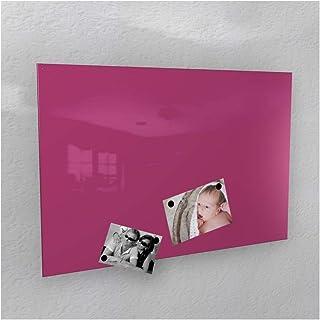 Colours-Manufaktur Pizarra magnética para pared, color rosa brillante (RAL 4010), color magenta (3 tamaños diferentes) 40 ...