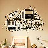 Tecnología informática etiqueta de la pared ciencia educación dormitorio estudio aula escuela...