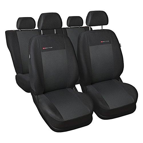 GSC Sitzbezüge Autositzbezug Komplettset 5-Sitze, Universal Grau, Elegance, kompatibel mit Volkswagen VW Tiguan 5-Sitze
