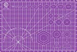 KC GLOBAL A3 (19'x13') Professional Grade Self-Healing Cutting Mat (Purple) - Odor-Free, Double-Sided, Eco-Friendly,Non-Slip,Premium Desk mat for DIY, Crafting,Model Building,and Art Projects