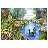 HUINXVEU Color por números para Adultos Dibujo de Lienzo con Pinceles Paisaje de la Naturaleza Set de Regalo Decoraciones Regalos 40x50cm Sin Marco