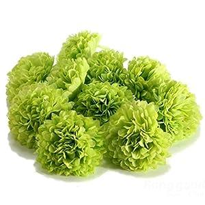 AMPELOS YOOLAN -10Pcs Artificial Daisy Mum Flower Silk Spherical Heads Bulk Home Party Wedding Decor Art