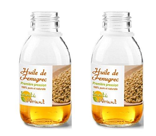 Huile De Fenugrec 60 ml - Lot de 2 100% Pure et Naturelle