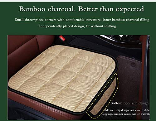 Cuscino per seggiolino auto per sedia da ufficio sedile conducente, sedia per computer con cuscino in carbonio antiscivolo con fondo memoria...