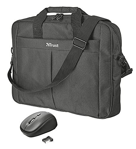 """Trust Primo Borsa per Laptop da 16"""" e Mouse Wireless Compatto"""