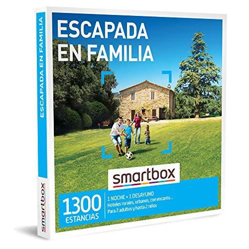 Smartbox - Caja Regalo para Hombres - Escapada en Familia - Caja Regalo para Hombres - 1 Noche con Desayuno para 2 Adultos y hasta 2 niños