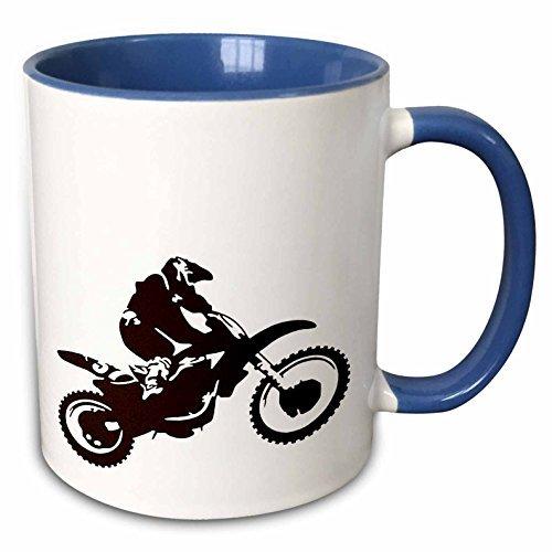 Motocross Bike, Off Road, Motorcross, Motorrad, Radikal, Silhouette, Tricks, zweifarbig, blau, 325 ml, mehrfarbig