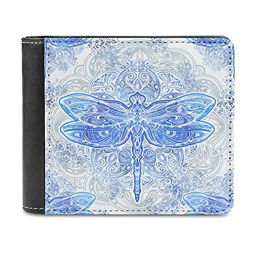 Dragonfly - Monederos mágicos de piel para hombre y mujer, diseño de cartera, cierre fino, regalo para madre o padre, blanco, talla única,