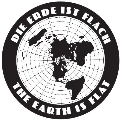 FlatEarthPosters.com 4 x Die Erde ist Flach The Earth is Flat Aufkleber/Laptop-Aufkleber