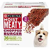 Purina Moist & Meaty Wet Dog Food, Chopped Burger...