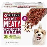 Purina Moist & Meaty Wet Dog Food, Chopped Burger...