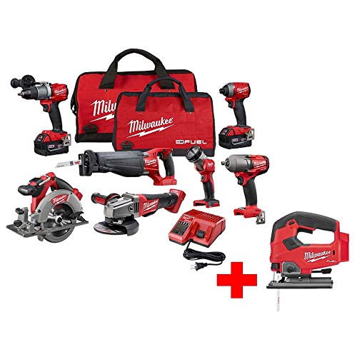 Sale!! Milwaukee M18 Fuel 18-Volt Lithium-Ion Brushless Cordless Combo Kit (7-Tool) with Two 5.0 Ah ...