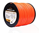 Anleolife 5-Pound Commercial Square .095-Inch-by-1280-ft String Trimmer Line in Spool,with Bonus Line Cutter, Orange