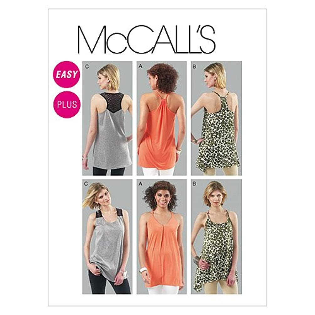 McCall's Patterns M6359 Misses'/Women's Tunics, Size RR (18W-20W-22W-24W)