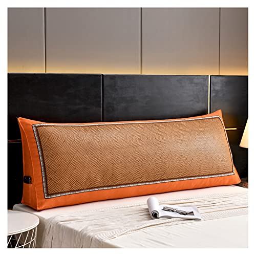 ZSFBIAO Respaldo Grande Almohada Cojín cojín Triangular Cabeza de Cama Cama Respaldo Simple y Moderno para Office Sofá Cama Arte Decoración (Size:60x50x20cm,Color:Naranja)