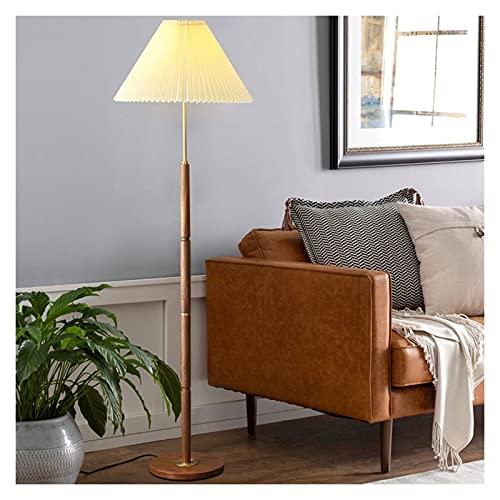 WYZ Lámpara de pie LED, Pantalla de Tela Adecuado for Sala de Estar de Estilo nórdico Estudio de Sala de Estar Lámpara de pie de Cama