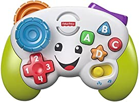 Fisher-Price Laugh & Learn Game & Learn Controller, musical toy with lights and learning content for baby and toddler...
