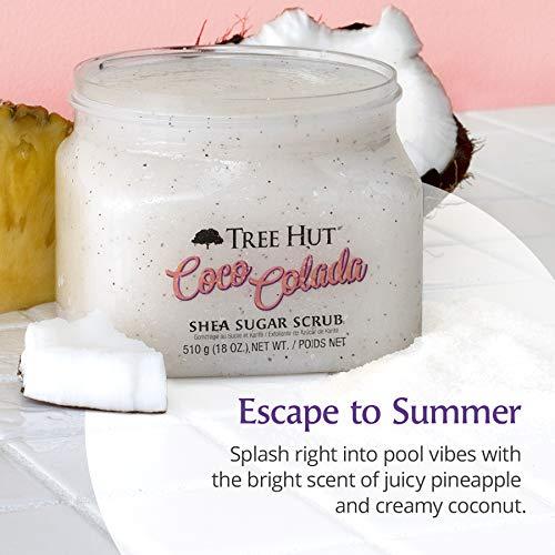 Tree Hut Coco Colada Shea Sugar Scrub, 18 oz, Ultra Hydrating and Exfoliating Scrub for Nourishing Essential Body Care