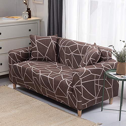 QWEASDZX Sofa Cover High Stretch Elastic Fabric Sofa Cover Sofa Chair Sofa Cover Polyester Spandex Furniture Protective Cover 2 Seater(140-180cm