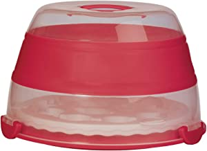 Progressive 55020 Cupcake and Cake Carrier, Red/Clear