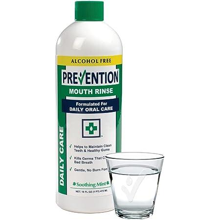 Prevention Daily Care Alcohol Free Mouthwash 16 Ounce   Zero Alcohol Mouthwash   Gentle Hydrogen Peroxide Mouthwash