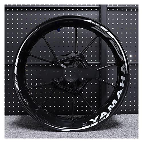 Decal de rayas de llanta de rueda Para Ya-ma-ha YZF R6 Etiqueta engomada de la rueda de la rueda de la rueda de la rueda de la rueda de la rueda de la rueda reflectante a prueba de agua. Raya de la de