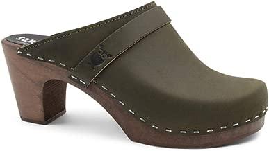 Sandgrens Swedish Clog Mules High Rise Wooden Heel for Women   Maya