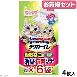 1週間消臭・抗菌デオトイレ 複数ねこ用消臭シート 4枚入×6P