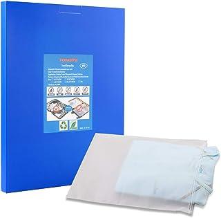 حقيبة TONGYE للاستخدام الجاف والمضاد للماء - هيكل شفاف (عبوة من 9 قطع), L-9 x 14 inches