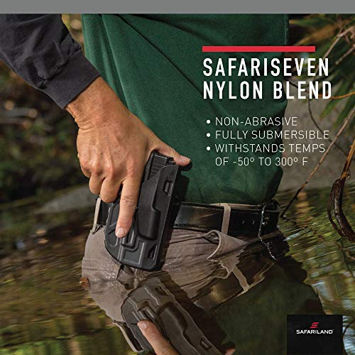 Safariland 7378, ALS Concealment Paddle and Belt Loop Combo Holster, Fits: Beretta 92, Black - STX Plain, Right Hand