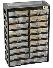 Allit 458100 - Armario de almacenamiento para piezas pequeñas, color negro y amarillo