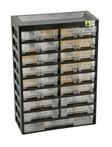 Allit Kleinteilemagazin VarioPlus Basic 47 schwarz, gelb, Sortierkasten 458100