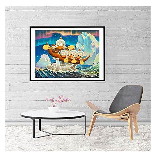 GIRDSS Glück des Nordens Carl Barks Leinwand Malerei Öldruck Poster Wandkunst HD Bild für Wohnzimmer Home Decor-60X80cm ohne Rahmen