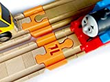 TrainLab Adapters Compatible with Thomas Wood 2018 and BRIO Wooden Railway Train Tracks (Orange)