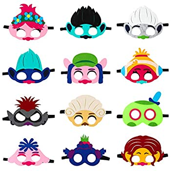 12Pcs Queen Barb Felt Masks Themed Birthday Party Supplies Dress Up Costumes for Kids