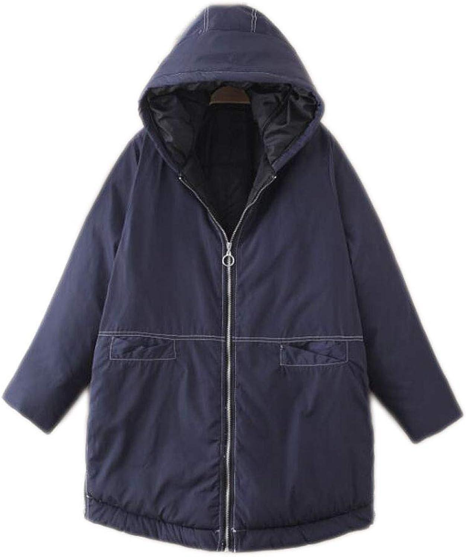 Winter extra large hooded cotton padded cotton suit plus fertilizer women's jacket