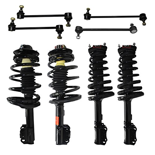 Detroit Axle - 2.2L & 2.4L Front Rear Struts Sway Bar Links Replacement for Toyota Camry Solara, Coil Springs and Shock Absorbers Suspension Kit - 8pc Set