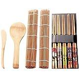 Juego de fabricantes de sushi para principiantes Molde del sushi utensilios de cocina fijado for rollo de sushi de herramientas de cocina 9Pcs / Set de sushi de DIY del molde del fabricante Set de coc