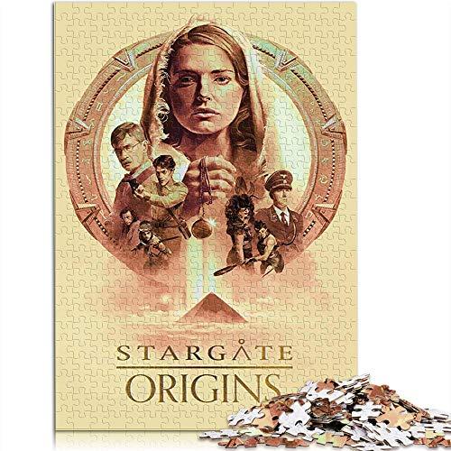 YITUOMO Rompecabezas de 300 piezas para adultos o adolescentes Stargate Origins TV Show Poster Classic Puzzle juguetes educativos DIY regalo divertido juego 38 x 26 cm