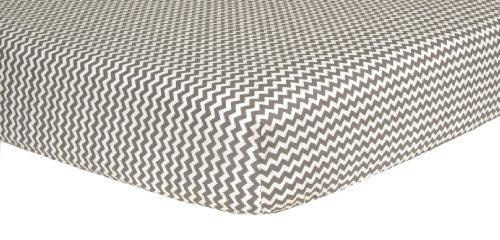 Trend Lab weiß Chevron Print Bettlaken für Babybett
