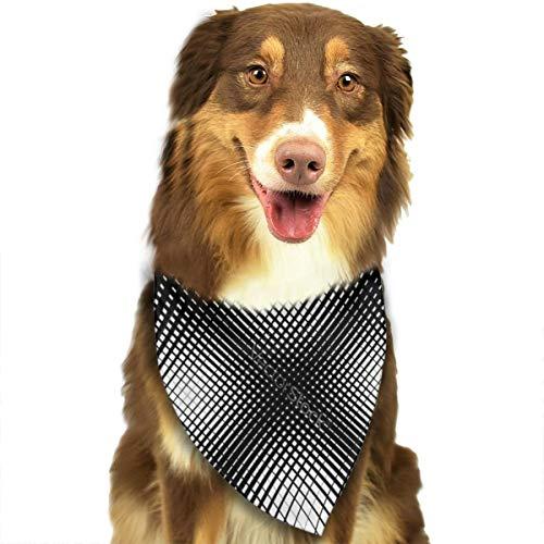 iuitt7rtree Abstraktes Netzgitter-Muster Schnittmuster Taschentücher Schals Dreieck Lätzchen Zubehör für kleine, mittelgroße und große Hunde Welpen Haustiere