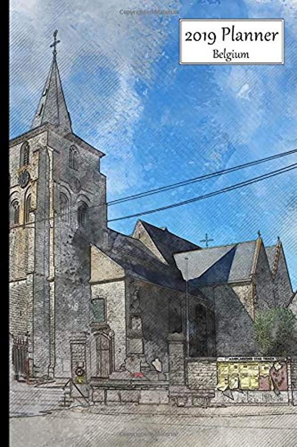 2019 Planner Belgium: Weekly Sunday Starting 2019 Organizer Or Appointment Book With  Heilige Verlosserkerk Church Hakendover Cover