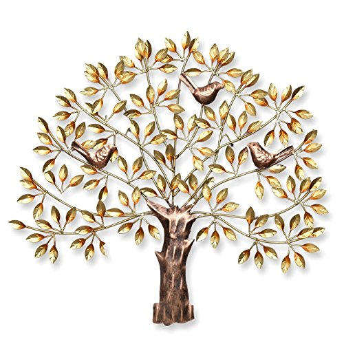 50 Off On Collectible India Metal Tree Of Life Wall Hanging Decor For Living Room Bedroom Handmade Golden Wall Hanging Art Decor Sculpture Birds Sitting On Branches Modern Artwork Diwali Gifts Home